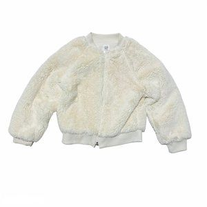 Baby Gap Faux Fur Bomber Jacket Ivory Frost
